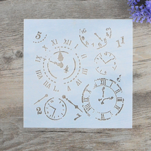 DIY Craft Layering Clock Stencils For Walls Painting Scrapbooking Stamping  Album Decorative Embossing Paper Cards