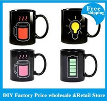 100pcs/lots DHL/EMS free shipping Animated Battery Coffee Mug ( Battery Color Changing Mug) free shipping(China)