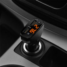 Rondaful USB Charger Bluetooth Kit Handsfree Set FM Transmitter MP3 Music Dual USB Car Charger Adaptador USB for Mobile Phone(China)
