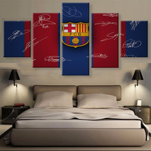 5 Panel Canvas Printed La Liga Barca LOGO Painting For Living Picture Wall Art HD Print Decor Modern Artwork Football Poster