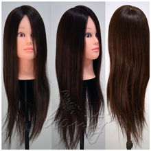 High Quality 100% Real Long Hair Practice Mannequin Hairdressing Training Head High Temperature Fiber Salon Model