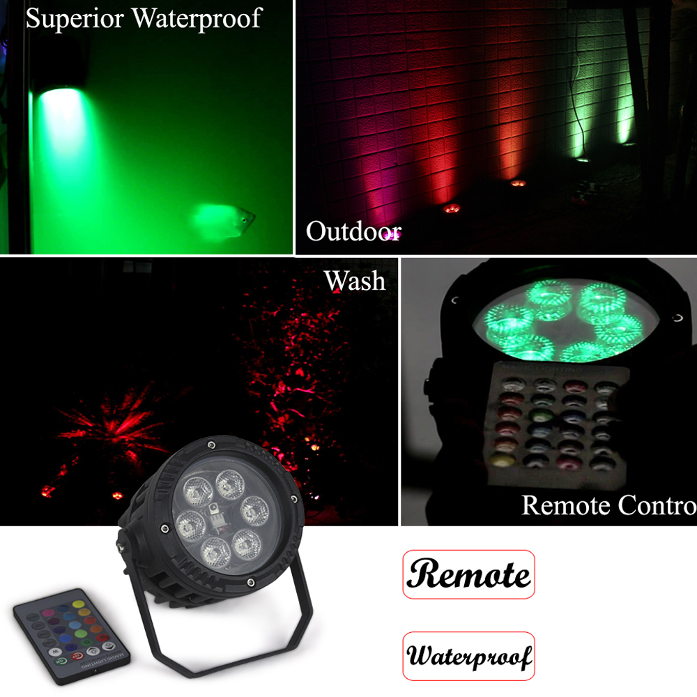 4Pcs/Lot Waterproof Par Light High Quality 6*3W RGB Full Color LED Par Cans Professional Stage Dj Party Lighting Equipments<br>