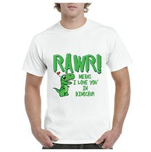 Tee Shirt Sites Short Cotton Crew Neck Womens A+ Rawr Means I Love You Shirts