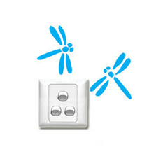 Music wall- stickers stickers switch small dragonfly Stickers appliances bathroom furniture Kitchen Cabinets