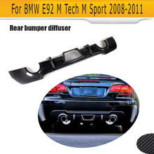 3 Series Carbon Fiber Rear Diffuser Lip Spoiler for BMW E92 Coupe E93 Convertible M sport Only 2005 - 2011 328i Car Styling