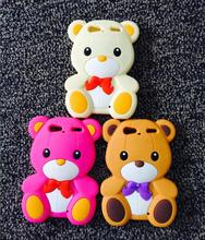 Cute Lovely Fashion Cartoon 3D bear Silicone Soft Cover Case for Motorola Droid RAZR XT912 XT910 phone case coque capa funda