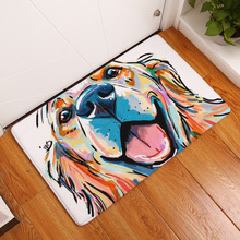 Floor Carpet Dog Printed Doormat Living Room Kitchen Bathroom Anti-slip Water Absorption Door Mat Home Entrance Rugs