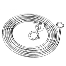 925 sterling silver necklace seamless octagonal snake chain for women
