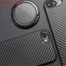 Carbon Fiber Phone Case For iPhone 7 7 Plus 6 6s Plus 5 5s SE Luxury Soft TPU Mobile Phone Case For iPhone 7 Back Cover Bags