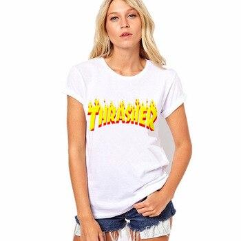 New Fashion 2017 Harajuku White T-shirt Women Ladies Tops Gorilla Letter Print Casual Funny T Shirts Tee Shirt Femme Loose