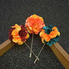 Wholesale Tuxedo Lapel Pin Flower Brooches for Men Fashion Lapel Pin Bouquet Brooch Wedding Bridegroom Suits Brooch 12 PCS/LOT