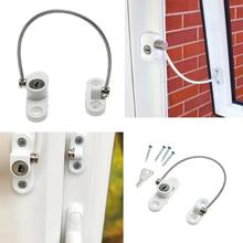 Window Security Chain Lock Door Restrictor Child Safety Stainless Anti-Theft Locks For Home Sliding Door Furniture Hardware(China)