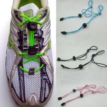 1pair 2015 hot sale Locking Shoe Laces Elastic Shoelaces Shoestrings Running Jogging Triathlon Sports Fitness(China)