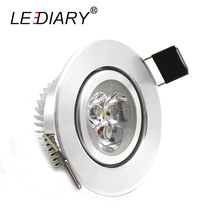 LEDIARY Round Recessed Led Downlight 110-240V  3W 5W 55/70/90MM Cut Hole LED Spot Lamp Angle Adjustable Ceiling Living Room CE