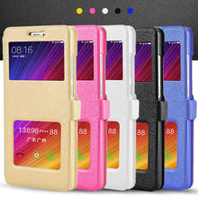 View Window Leather Case For Xiaomi Redmi 4 pro / Redmi 4A Magnet Flip Cover for Redmi 4A / Redmi 4 prime 4pro Phone Bags Coque