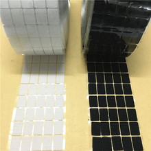 50Pairs 20*40mm black/white Magic Nylon Sticker Double Sided Adhesive Hooks Loops Disks Rectangle Fastener Tape Sewing