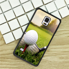 TPU Phone Cases For Samsung Galaxy S3 S4 S5 mini S6 S7 Edge S8 plus Note 2 3 4 5 Cover Soft Golf Ball Sport Field(China)