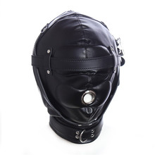 Buy Thickening Leather Dew Mouth BDSM Mask Lock Sex Slave Head Hood Bondage Restraints Erotic Sex Toys Couples
