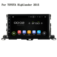 10.1 Screen Android 5.1 Car DVD Player For Toyota Highlander 2015 With Video Stereo Radio Player Wifi 4g TV GPS OBD