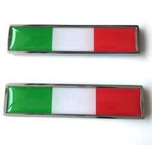 YAQUICKA Italy Italian Flag Decal Emblem Car Fender Side Sticker Styling Car-covers Fit Benz BMW VW Audi Fiat Panda etc - Spider-man's Store store