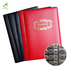 Russian Coin Album 10 Pages 120 Pockets Coin Collection Book Coin Holder Mini Hand Size Album Book Black Navy Blue Red 3 Colors