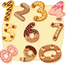 10PCS Numbers Stainless Steel Metal Cookie Cutter Chocolate Cookie Cut Outs Mold Set