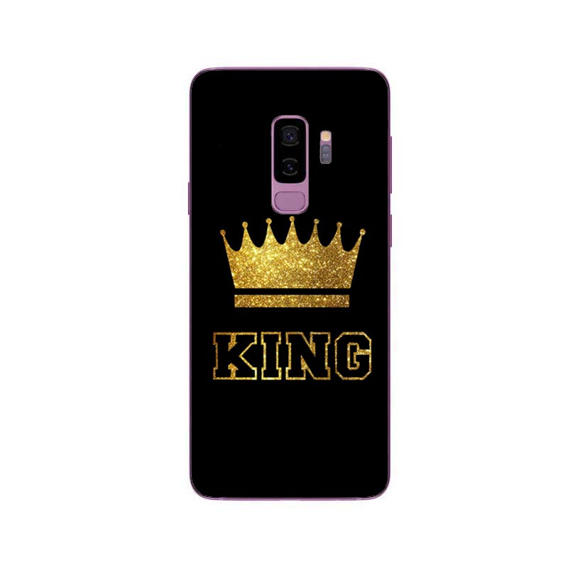 King Queen Case for Samsung Galaxy  S6 S7 Edge S8 Plus A6 A7 A8 2018 Plus J3 J5 J7 2017 EU J6 J8 2018 Note 8 Back Cover Luxury