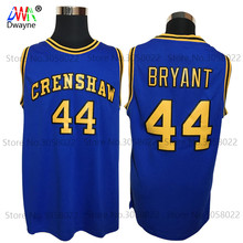 2017 Dwayne Mens Cheap Throwback Basketball Jerseys #44 BRYANT Jersey Crenshaw High School Movie Love Retro Stitched Jerseys(China)