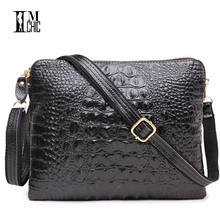 Vintage Crocodile Ladies Leather Bags Lux Split Cowhide Tablet Clutch Bag Sexy Female Crossbody Shoulder Designer Handbags Girl(China)