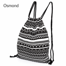 Osmond Backpack Women National Canvas Backpacks Teenage Girls Drawstring Bag School College Sack Bags - CNY Trade Co.,Ltd store