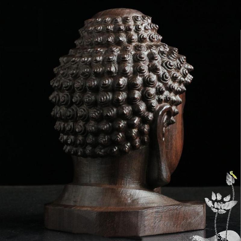 6cm Indian Buddha Sakyamuni Tathagata Mahogany Statue
