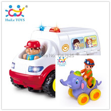Puzzle Learning IFriction Animis Toys Eletricos Action Ambulance Brinquedos Bebe Free Shipping 836 & 366A(China)