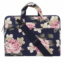 Mosiso Floral Women Strap Shoulder bag for Macbook Pro Air Lenovo Acer DELL 11.6 13.3 14 15.6 Notebook carry case Briefcase