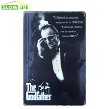 Film The Godfather Metal Tin Sign Bar Wall Decor Tin Sign Vintage Home Decor Metal Plaque Retro Metal Plate Cool Metal Poster(China)