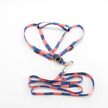 High Quality! Printed Rope Small Pet Dog Cat Adjustable Rope Lead Leash Harness Chest Strap Pet Dog Collar