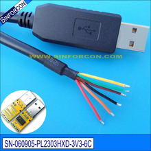 win8 10 android mac linux pl2303hxd usb uart ttl 3.3v adapter wire end for plc mcu download fleshing cable