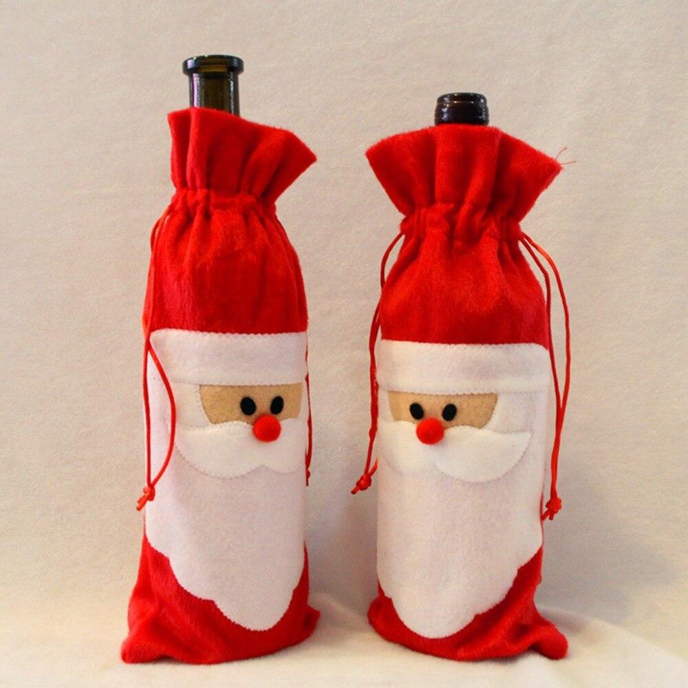 Новогодние чехлы для бутылок своими руками