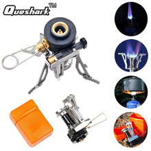 Portable Outdoor Survival Picnic Gas Burner Lighter Foldable Camping BBQ Cooking Tool Mini Stainless Steel Stove With Case(China)