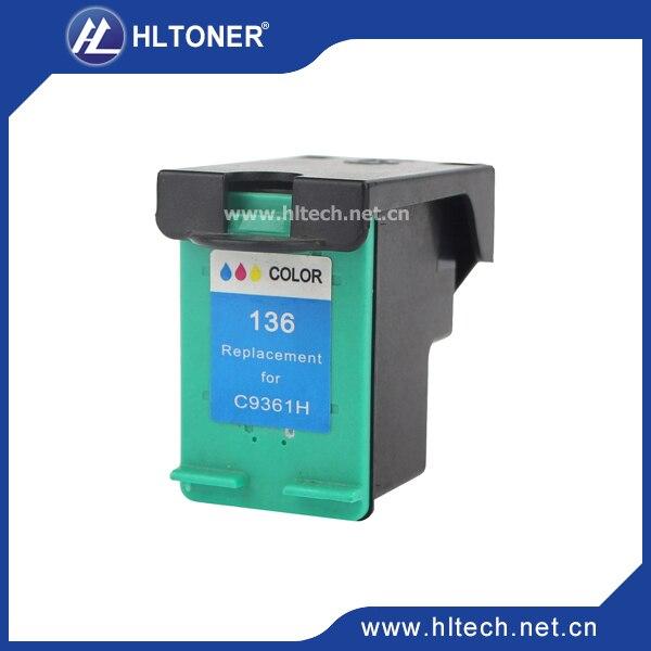1pc Compatible ink cartridge HP136 C9361HE Tri-Color for Deskjet 5443/D4163 Officejet 6313 Photosmart C3183/2573<br><br>Aliexpress