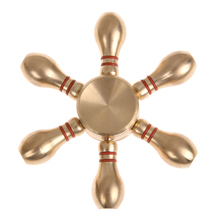 Buy Copper Bowling Fidget Spinner Finger Spinner Hand Spinner Brass Metal Autism Adult Anti Relieve Stress Toy Spiner for $5.72 in AliExpress store