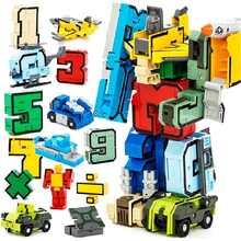 Christmas Gifts Magic Number Transformation Educational Toys Assembly Robot Action Figures Transformer Birthday New Year Gift(China)