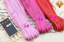 Free shipping 50yds (10yards/pcs 5pcs) 5mmx1.5mm PU Imitate Flat Leather Braided Beading Cord 16 colors ds423-a