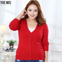 new Sweater Women Cardigan Knitted Sweater Coat Crochet Female Casual V-Neck Woman Cardigans Tops plus size 100KG(China)
