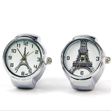 2016 Hot Sale Eiffel Tower Ring Watch For Women Stretch Quartz Finger Watches Rings UnisexGifts Wholesale Promotion Jewelry