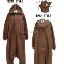 HKSNG SAZAC Material Teddy Coffee Brown Bear Animal Footed Christmas Gift Girls Pajamas Costumes Onesies Cheap Sale(China)