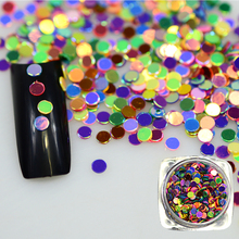 1 Bottle 2g Thin Paillette 3D Shining Colorful Nail Art Glitter Nail Sparkly Tips DIY Nail Decoration Tools BEY07