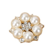 Cute Imitation Pearls Flatback Round Flower Beads 27mm Embellishments Jewelry DIY Making Accessories(China)