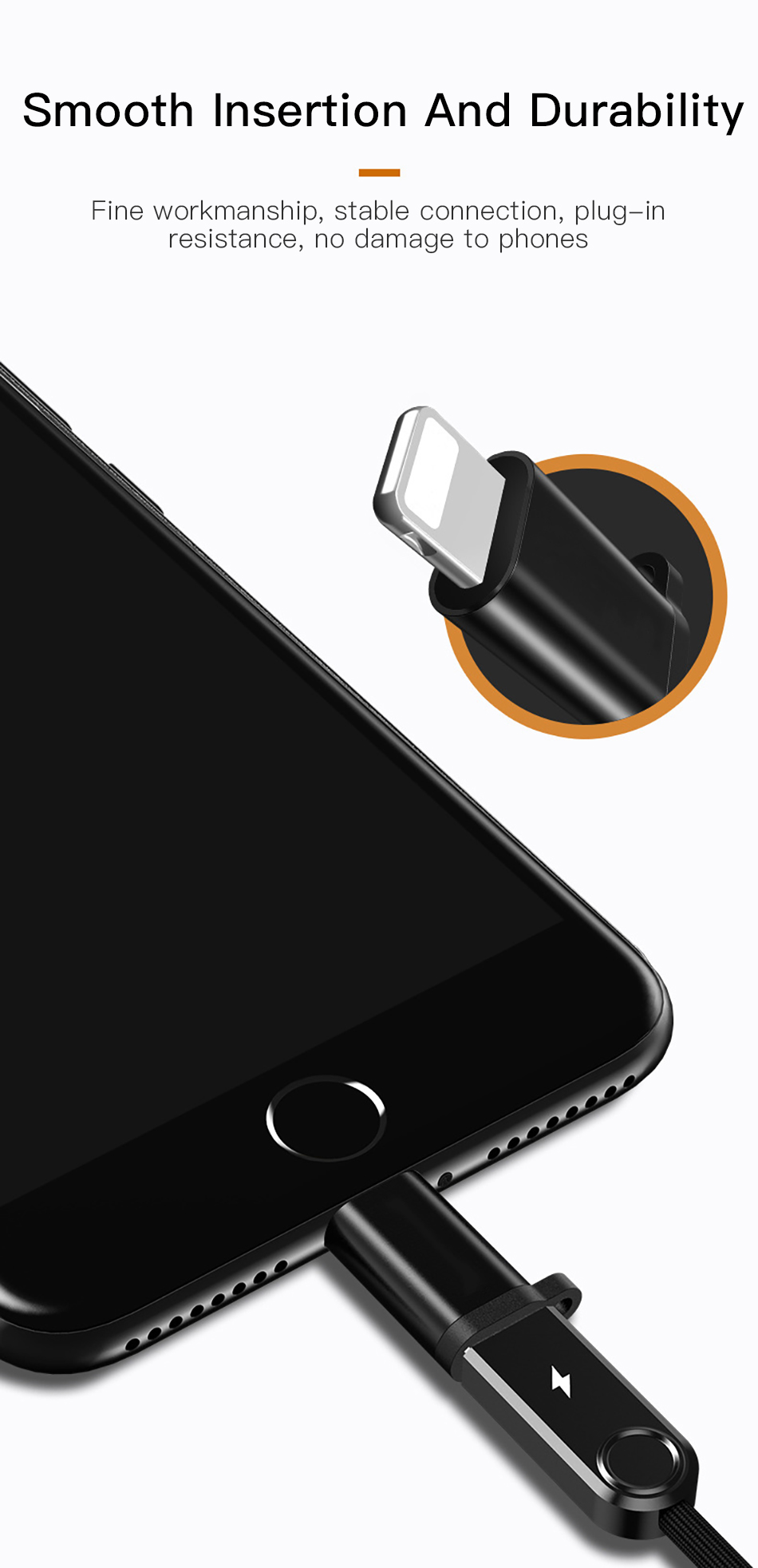 !ACCEZZ 4PC OTG Adapter Micro USB Female To Lighting 8 Pin For iphone X XS MAX XR 7 8 6S Plus Phone Data Sync Charger Converter (5)