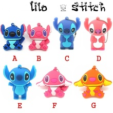 7 styles cartoon lovely Lilo & Stitch usb flash drive disk memory stick Pen drive personalized mini pendrive 4gb 8gb 16gb 32gb