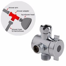 ABS 3 way Diverter Valve Water Separator Shower Tee Adapter Adjustable Shower Head Diverter Valve Bathroom Accessories(China)